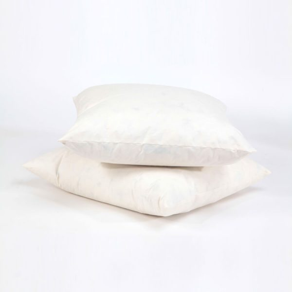 Down cushion pillow inside
