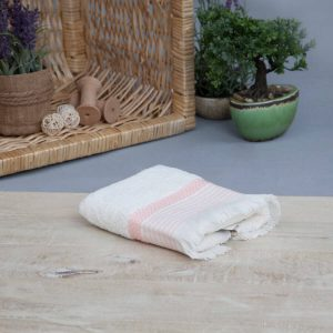 Mia cotton pink towel