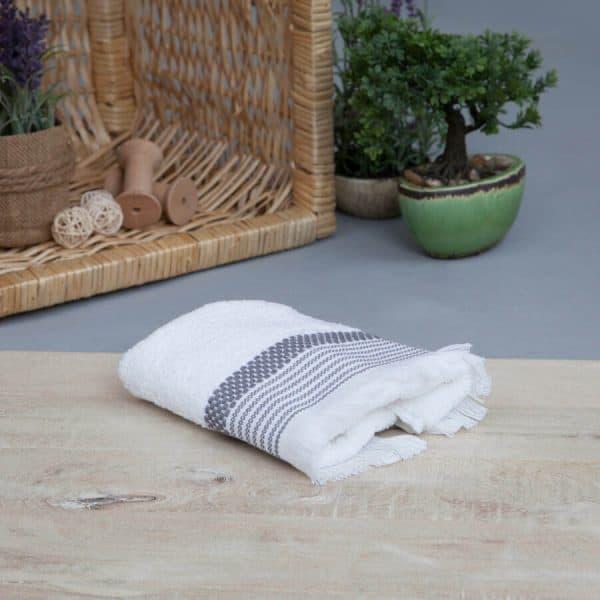 Mia cotton dark grey towel