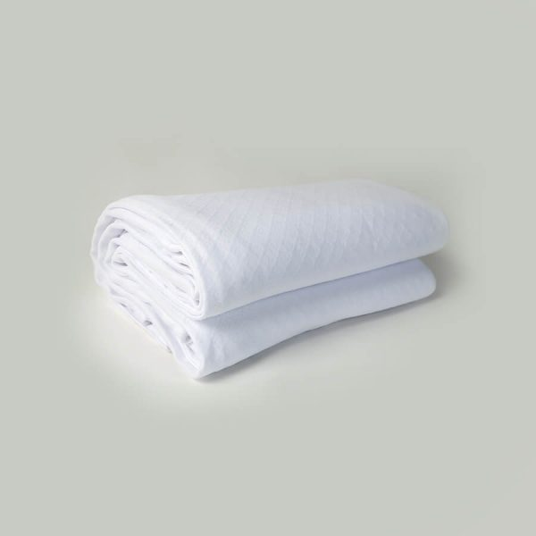 Eliza bambu baby throw white