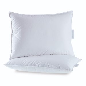 Gold Down Pillow Side Front Back Sleeper