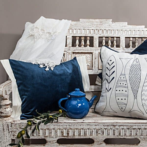 Luna decorative cushion cover dark blue