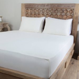 Penelope tender cotton bed sheet cream