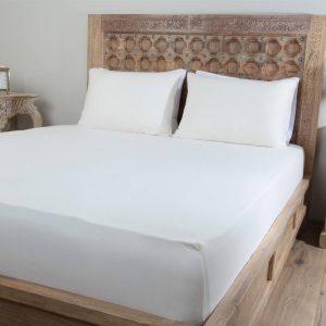 Penelope tender cotton bed sheet cream