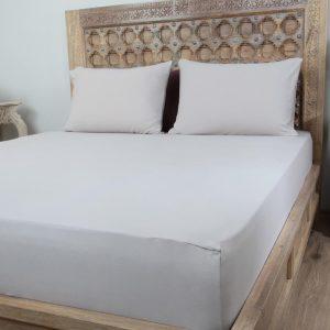 Penelope tender cotton bed sheet grey