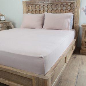 Penelope tender cotton bed sheet lilac
