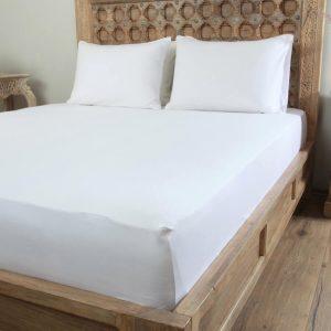 Penelope tender cotton bed sheet white