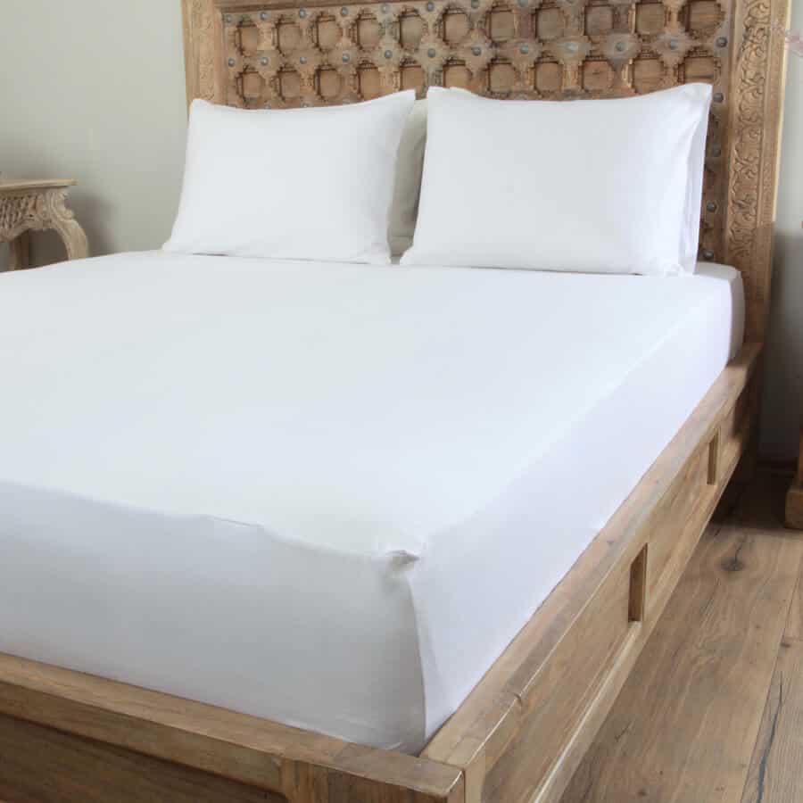 Penelope Tender Cotton Bed Sheet White L Penelope Bedroom Uk