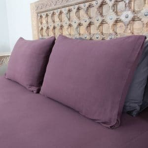 Penelope tender cotton pillow case purple