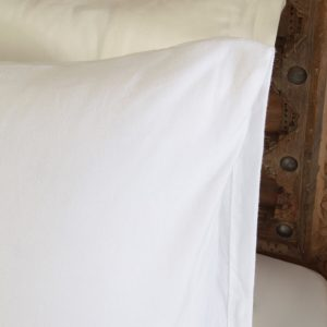Penelope tender cotton pillow case white