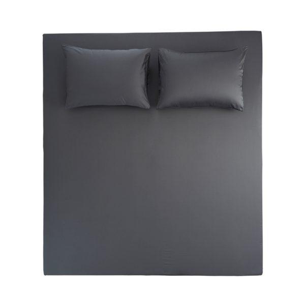 Stella Anthracit flat sheet set 2 pillow cases