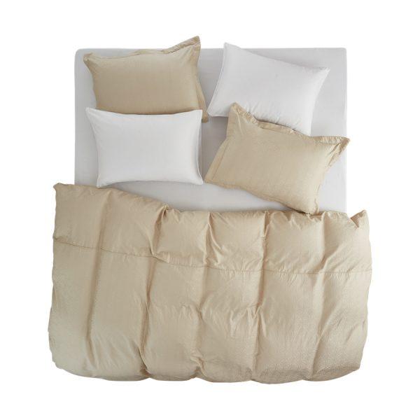 Stella beige duvet cover set 2 pillow cases