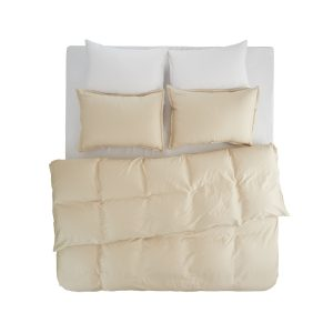 Stella beige duvet cover set 2 pillow cases