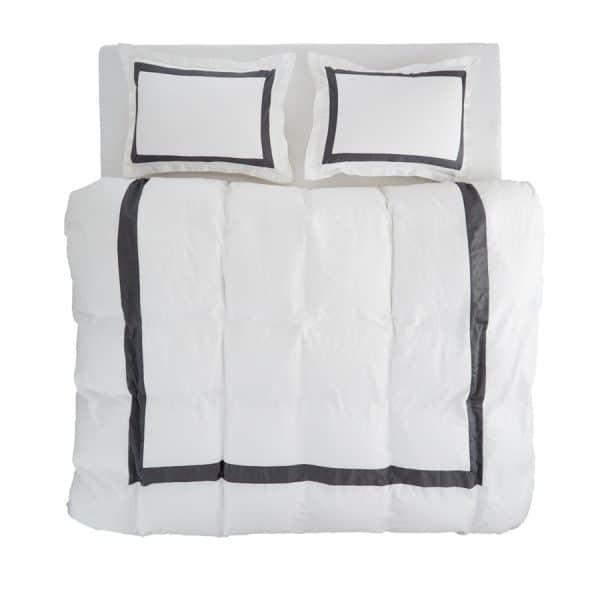 Valeria-white-antrasite- duvet-cover-set