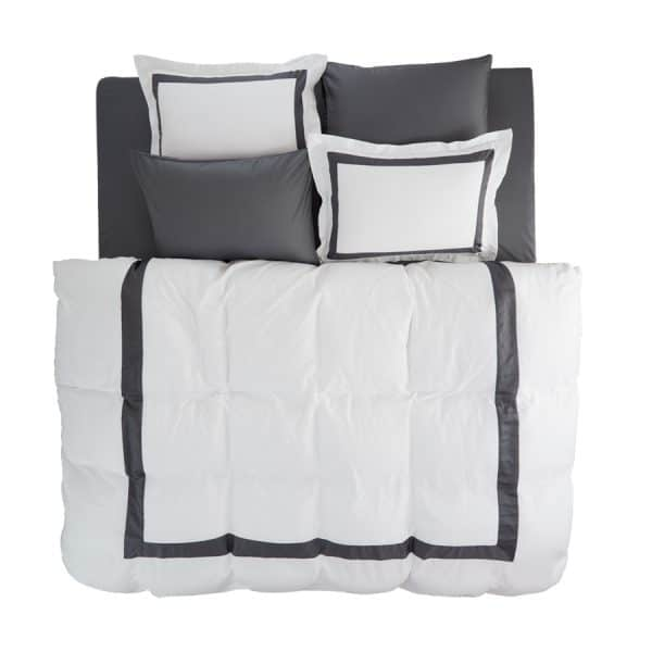 Valeria white antracite duvet cover set 2 pillow cases