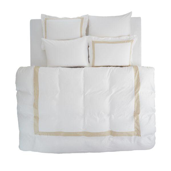 Valeria white beige duvet cover set 2 pillow cases